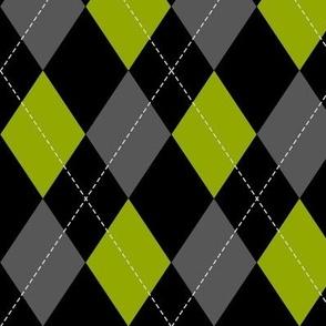 green-black-grey argyle PATTERN