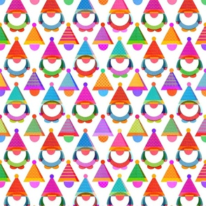 Colourful Tissue Paper Christmas Gnomes
