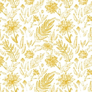 Watercolor floral yellow