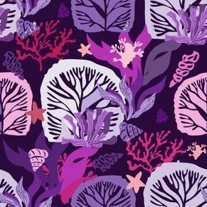 Seaweeds and corals pattern 11