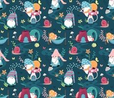 Colorful garden gnomes