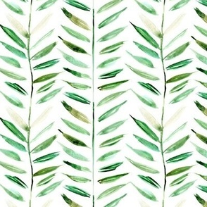 tropical chevron - leaves herringbone - watercolor nature a393-1
