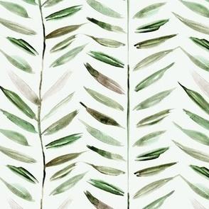 tropical chevron - leaves herringbone - watercolor nature a393-7