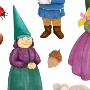 Forest Gnomes Large Print