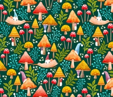 Blooming Gnomes in Spring, playing hide and seek