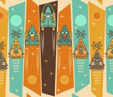 Retro Space Gnomes and Gnobots