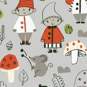 gnome kids in the forest