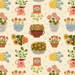 Small, Some Flower Pots