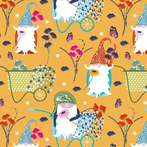 Gnomes floral yellow