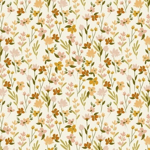 Soul Shine 1 natural organic hygge style floral pink gold yellow earthy modern painted floral Terri_Conrad_Designs