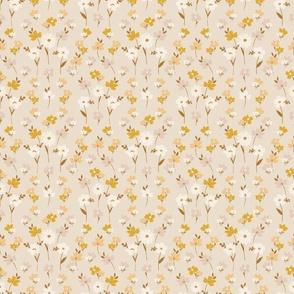 Soul Shine hippie chic boho vibe natural earthy floral pattern gold yellow mauve cottage core modern farmhouse Terri_Conrad_Designs