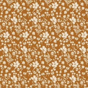 Soul Shine brown ivory neutral floral earthy hygge style feminine painterly floral terriconraddesigns