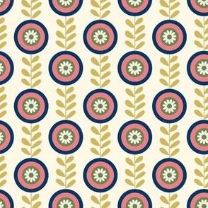 Retro geometrical florals