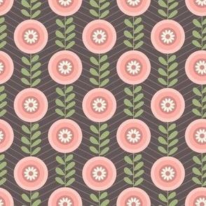 Geometric retro florals