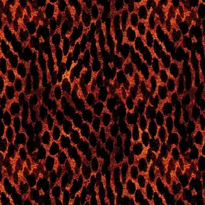 Grunge spots - flaming tiger