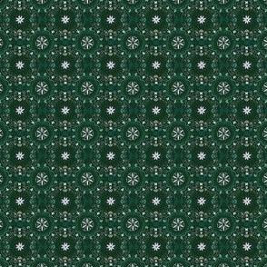 Mini Flower Tile in Forest Green