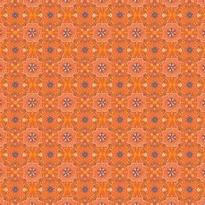 Mini Flower Tile Gypsy Orange