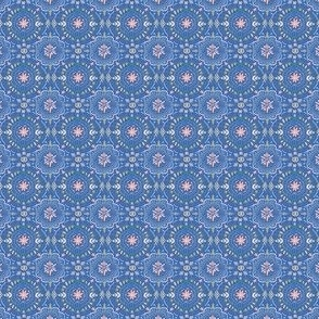 Mini Flower Tile in Sea Blue