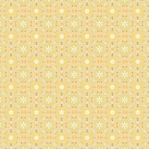 Mini Flower Tile in Sunny Lemon