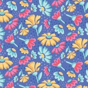 Garden Delight_Floral_Blue_Laura Wayne Design