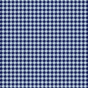 dark and light blue houndstooth small