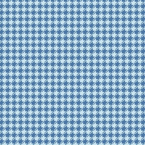 blue on light blue houndstooth small