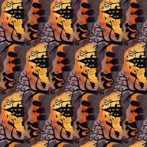 Spooky Halloween Haunts Infinity Scarf