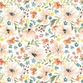 Wild Flowers white 4x4