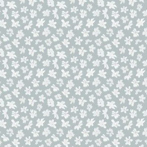Ditsy Flowers - Dusty Blue Small