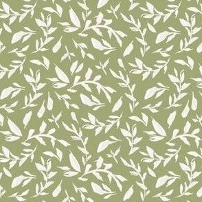 Wild Flowers Leaves - Sage Green