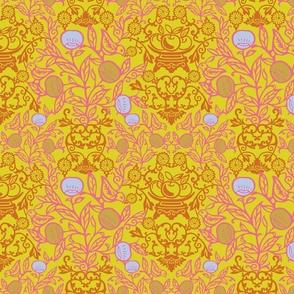 Peach Garden-Yellow Regular Scale