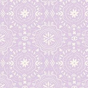 Flower Tile in Pretty Purple