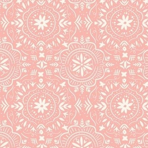 Flower Tile Strawberry Pink