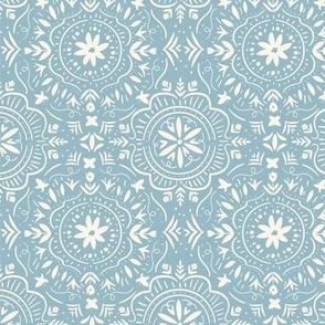 Flower Tile Vintage Blue