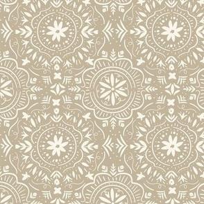 Flower Tile Creamy Beige