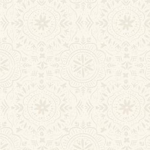 Flower Tile Ivory White
