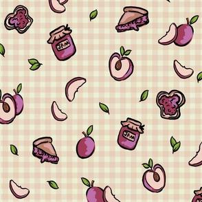 plum fabric pattern