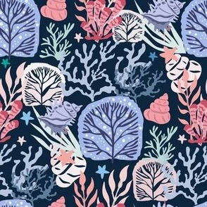 Seaweeds and corals pattern 8-01