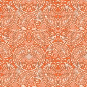 Paisley in orange