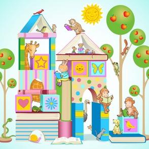 Books and Blocks Playmat