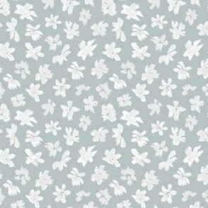 Ditsy Flowers - Dusty Blue Medium