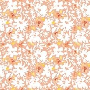 Wild Flowers Peach 3x3