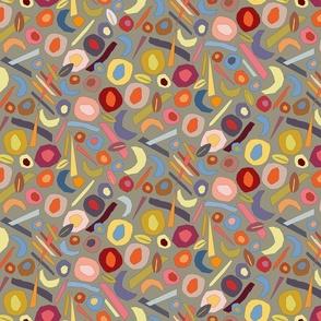Color rhythm of stone fruits