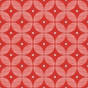 Red Retro Geometric Atomic Mid Century Geometric