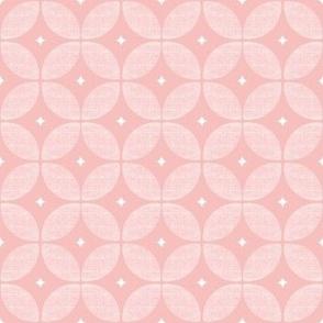 Blush pink Atomic starburst Mid Century