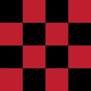"""2"""" checkerboard red and black two inch squares - checkers chess"""