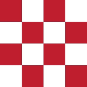 """2"""" checkerboard red and white two inch squares - checkers chess"""
