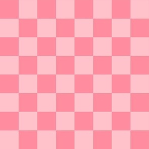 """1"""" checkerboard pink one inch squares - checkers chess"""