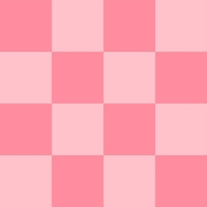 """2"""" checkerboard pink two inch squares - checkers chess"""
