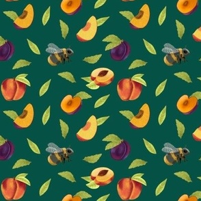 Plums and Peaches Scattered